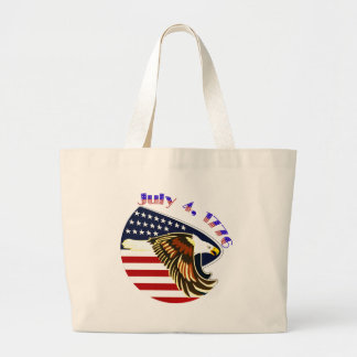 Independence Day Large Tote Bag