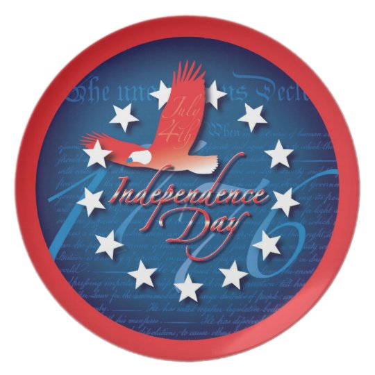 Independence Day Melamine Plate