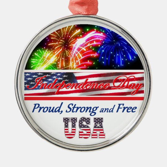 Independence Day Metal Ornament