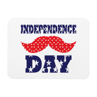 Independence Day Moustache Rectangle Magnets