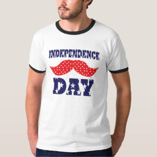 Independence Day Moustache T-Shirt