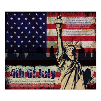Independence day of United States Print