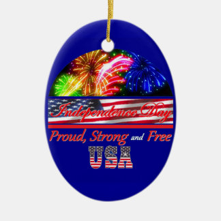 Independence Day Christmas Ornament