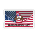 Independence Day owl Acrylic Tray