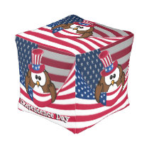 Independence Day owl Pouf