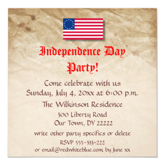 Us independence day invitations announcements zazzle independence day party card spiritdancerdesigns Choice Image