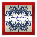 "Independence Day Party Invitation 5.25"" Square Invitation Card"