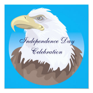 """Independence Day Party Invitation 5.25"""" Square Invitation Card"""