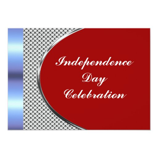 "Independence Day Party Invitation 5"" X 7"" Invitation Card"