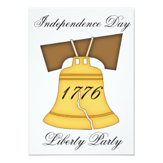 Independence Day Party-Liberty Bell Card