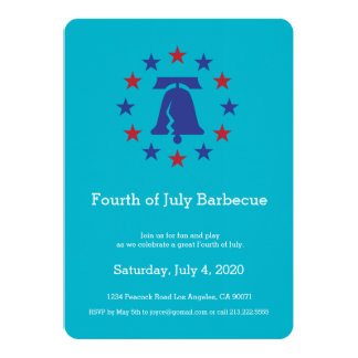 Independence Day Party Liberty Bell Invitation