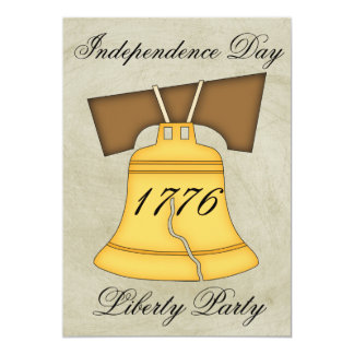 Independence Day Party-Liberty Bell/Vintage Look Card