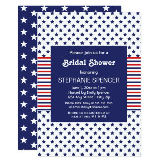 Independence Day Patriotic Bridal Shower Card