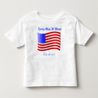 Independence Day Patriotic Flag Toddle T-Shirt