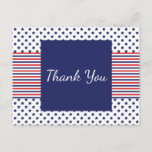 Independence Day Patriotic Thank You Card
