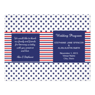 Independence Day Patriotic Wedding Programs