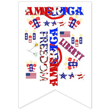 Independence Day Pattern Bunting Flags