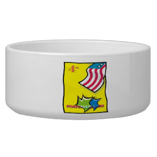 Independence Day Pet Water Bowl