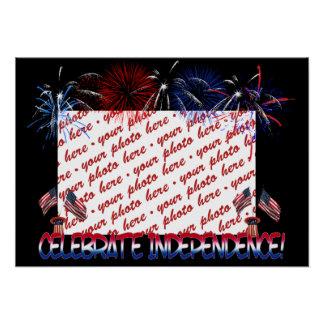 Independence Day Photo Frame Posters