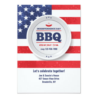 Independence Day Red, White and Blue Invitation