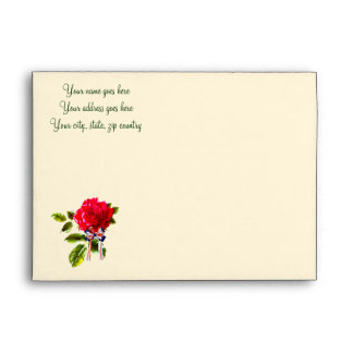Independence Day Rose Envelope