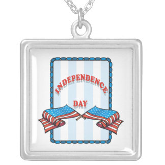 Independence Day Silver Plated Necklace