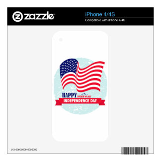 Independence-Day Skin For iPhone 4