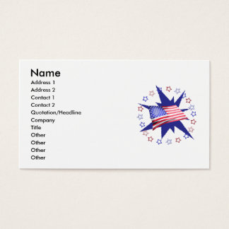 Independence Day Star Circle Business Card