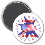 Independence Day Star Circle Fridge Magnet