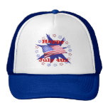 Independence Day Star Circle Mesh Hat
