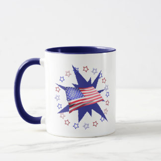 Independence Day Star Circle Mug