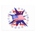 Independence Day Star Circle Postcards