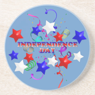 Independence Day Stars and Confetti Coaster