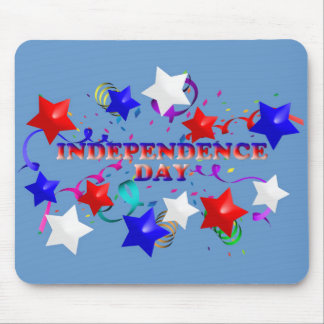 Independence Day Stars and Confetti Mousepad