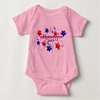 Independence Day StarsConfetti Pink Infant Creepe Baby Bodysuit