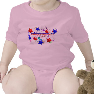 Independence Day StarsConfetti Pink Infant Creepe Tees
