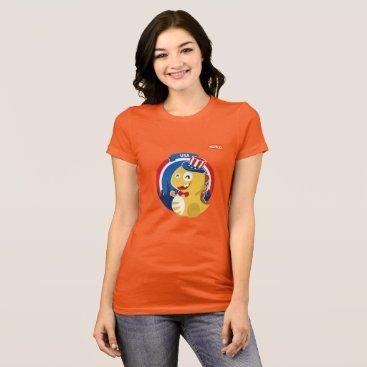 USA Themed Independence Day T-Shirt (orange)
