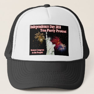 Independence Day Tea Party Protest 2nd Design Trucker Hat