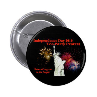 Independence Day Tea Party Protest Button
