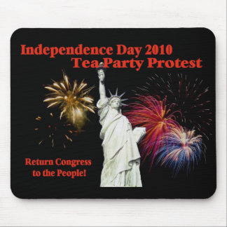 Independence Day Tea Party Protest Mouse Pad