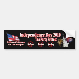 Independence Day Tea Party Protest New Design Bumper Sticker
