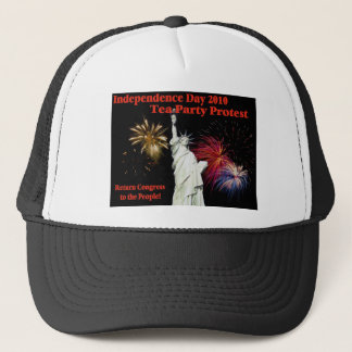 Independence Day Tea Party Protest Trucker Hat