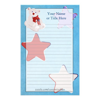 Independence Day Teddy Bear Stationery