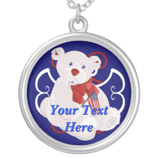 Independence Day Teddybear Necklace