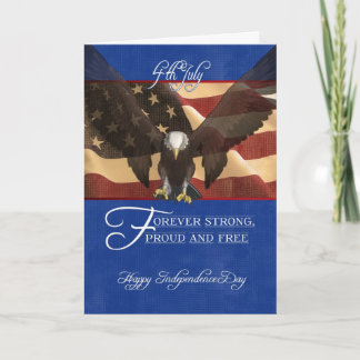 Independence Day, the Fourth of July, 4th July, Card