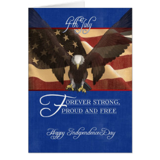 Independence Day, the Fourth of July, 4th July, Greeting Card