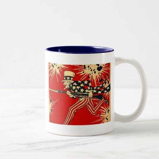 Independence Day Two-Tone Coffee Mug