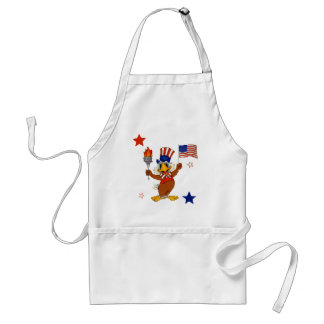 Independence Day Uncle Sam Eagle Adult Apron