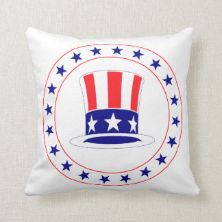 Independence Day Uncle Sam's Hat Throw Pillow