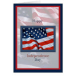 Independence Day with Flags Card
